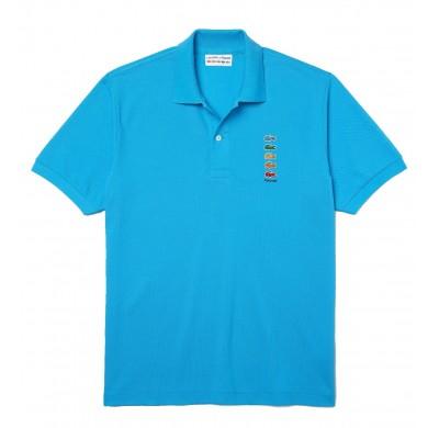 Lacoste x Polaroid Coloured Crocodiles Classic Fit Polo Shirt Blue