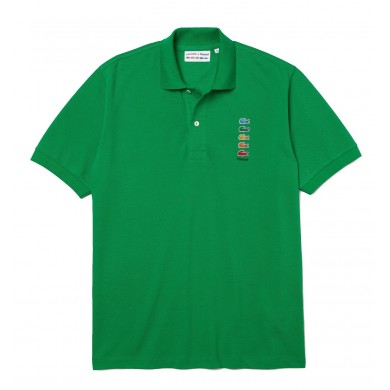 Lacoste x Polaroid Coloured Crocodiles Classic Fit Polo Shirt Green
