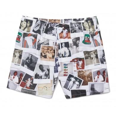 Lacoste x Polaroid Print Swimming Trunks White