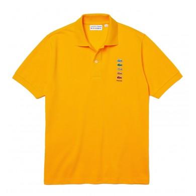 Lacoste x Polaroid Coloured Crocodiles Classic Fit Polo Shirt Yellow