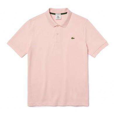 Lacoste Standard Fit Stretch Cotton Piqué Polo Shirt Light Pink