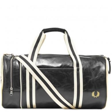 Fred Perry Classic Barrel Bag Black & Ecru