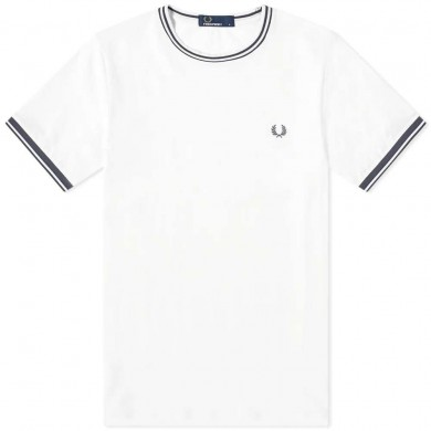 Fred Perry Twin Tipped Tee Snow White