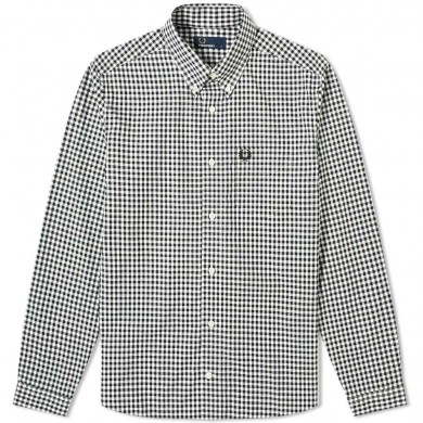 Fred Perry Authentic Button Down Gingham Shirt White