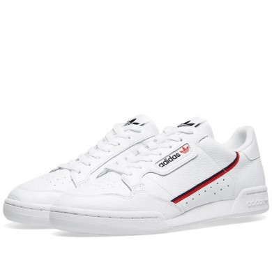 Adidas Continental 80 White, Scarlet & Collegiate Navy
