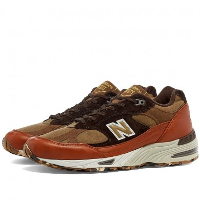 New Balance M991SOP - Made in England Tan & Brown