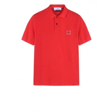 Stone Island 22S67 Pigment Dyed Polo Red