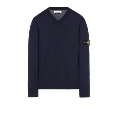 Stone Island 538C4 V-Neck Lightweight Wool Sweater V0026