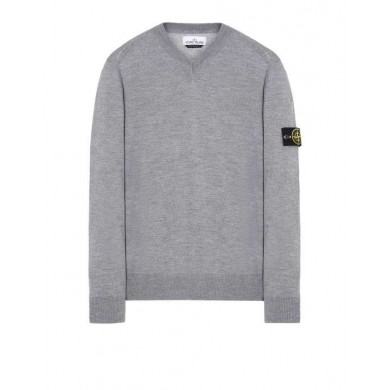Stone Island 538C4 V-Neck Lightweight Wool Sweater V0061