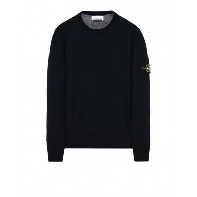Stone Island 524C4 Crew Neck Wool Sweatshirt Blue