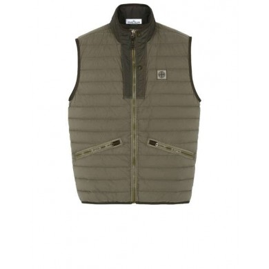 Stone Island G0225 Loom Woven Down Chambers Stretch Nylon-TC Olive