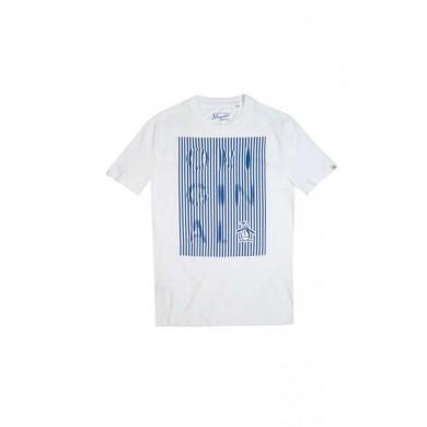 Original Penguin Displaced Stripe T-Shirt Bright White