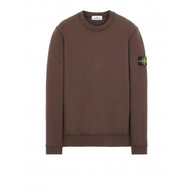 Stone Island 63020 Garment Dyed Crew Sweat Dark Brown
