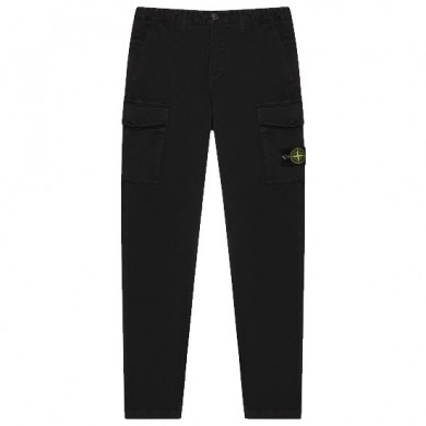 Stone Island Cargo Pants 318L1 T.Co+Old Stretch Cotton Broken Twill Black
