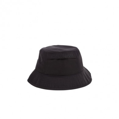 C.P. Company Chrome Logo Bucket Hat Black