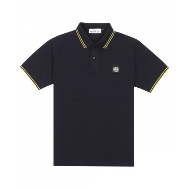 Stone Island 22S18 Patch Program Polo Shirt Black