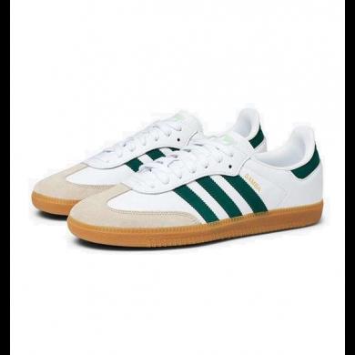 Adidas Samba OG White, Collegiate Green & Vapour Green