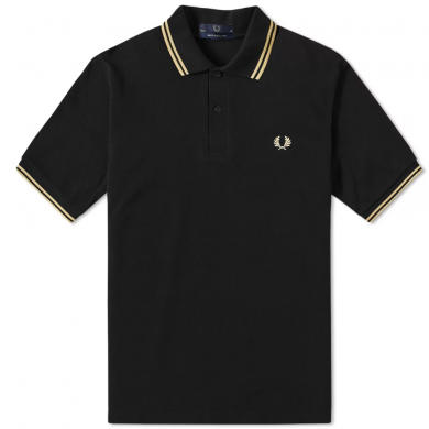 Fred Perry Reissues Original Twin Tipped Polo Black & Champagne