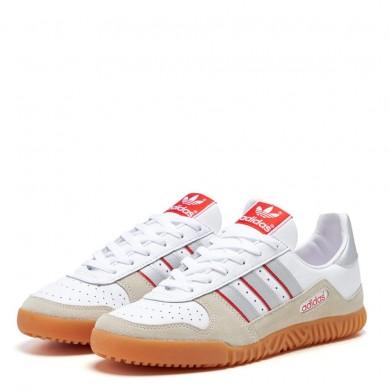 Adidas Indoor Comp White & Silver Metallic