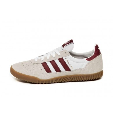 Adidas Indoor Super White & Collegiate Burgundy