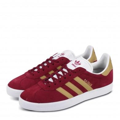 Adidas Gazelle Burgundy & Gold