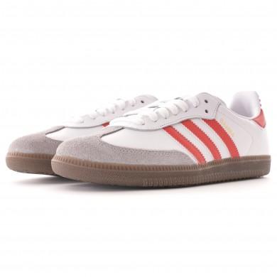 Adidas Samba OG White & Scarlet