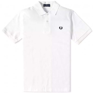 Fred Perry Reissues Original Plain Polo White & Black