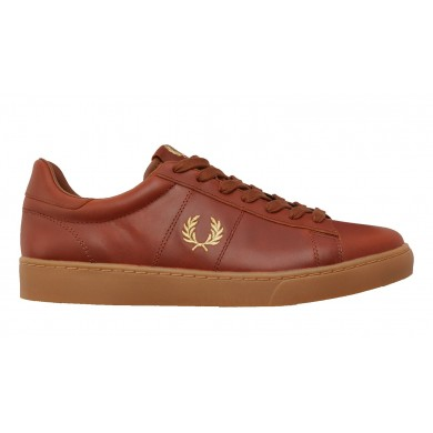 Fred Perry Authentic Spencer Leather Sneaker Tan & Gum