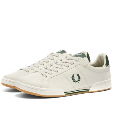 Fred Perry Authentic Leather Sneaker Porcelain & Ivy