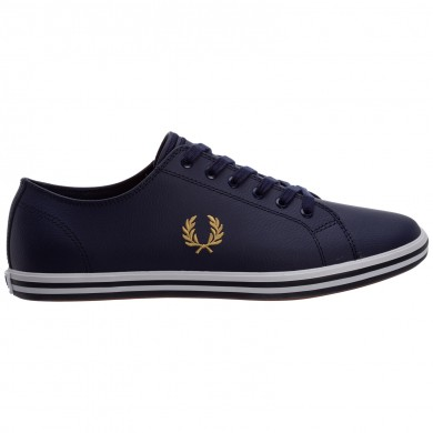 Fred Perry Kingston Leather Carbon Blue