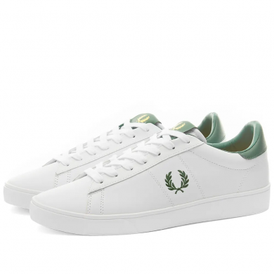 Fred Perry Authentic Spencer Leather Sneaker White & Ivy