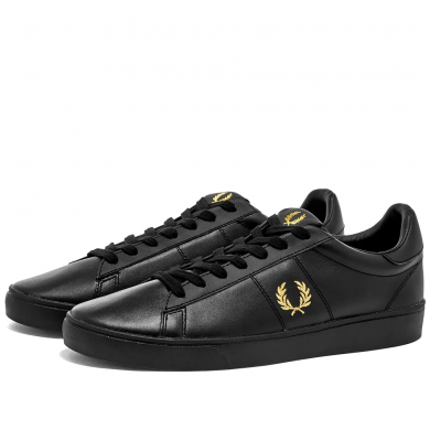 Fred Perry Authentic Leather Sneaker Black & Gold