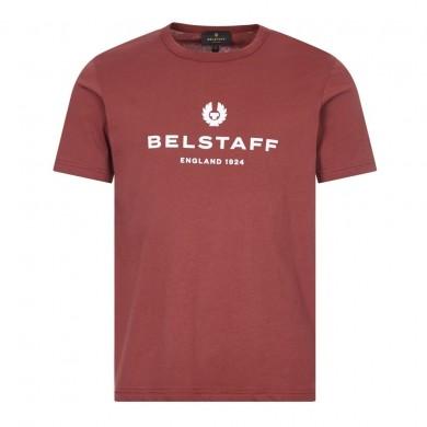 Belstaff 1924 Logo Tee Burnished Red