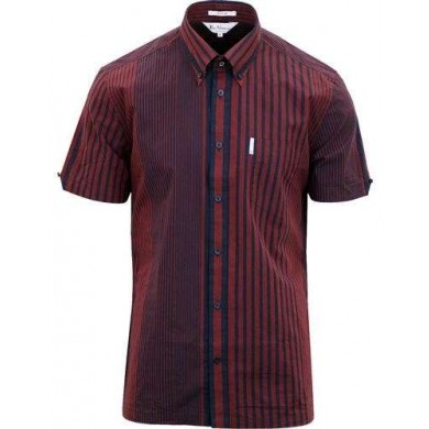 Ben Sherman Short Sleeve Riley Archive Shirt Rust