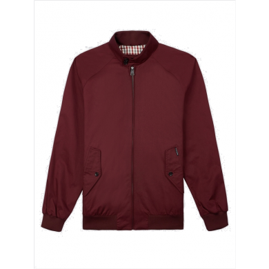 Ben Sherman Harrington Jacket Burgundy