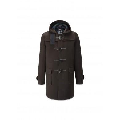 Gloverall Morris Duffle Coat Brown Tartan