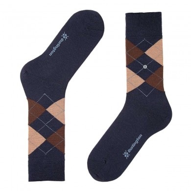 Burlington Edinburgh Socks Navy (40-46)