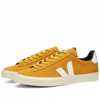 Veja Campo Nubuck Sneaker Moutarde & White