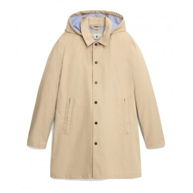 Woolrich Triple Layer Cotton Car Coat Feather Beige