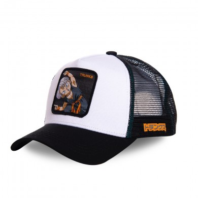 Capslab Trucker Cap Dragon Ball Z Trunks White & Black