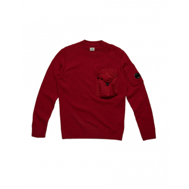C.P. Company Lambswool Mixed Chrome Pocket Crew Sweat Scooter