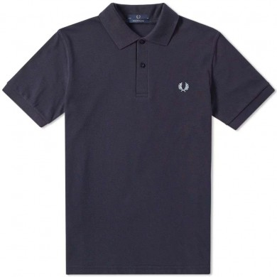 Fred Perry Reissues Original Plain Polo Navy & Ice