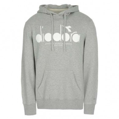 Diadora Hooded Sweat BL Light Middle Grey Melange