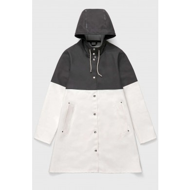 Stutterheim Stockholm Raincoat Black & White