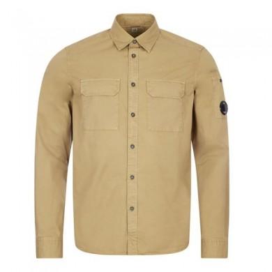 C.P. Company Gabardine Garment Dyed Lens Shirt Cornstalk