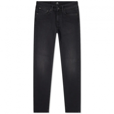 Edwin ED-80 Slim Tapered Jeans CS Power Black Denim Bristol Wash L32