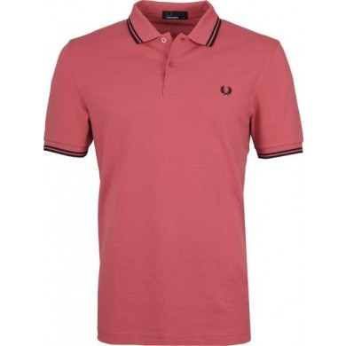 Fred Perry Slim Fit Twin Tipped Polo Mauvewood & Black