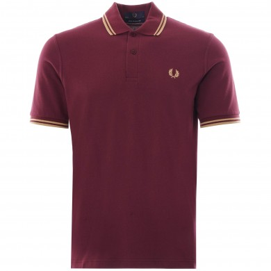 Fred Perry Reissues Original Twin Tipped Polo Aubergine & Champagne