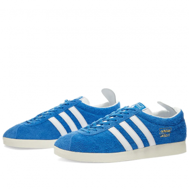 Adidas Gazelle Vintage Blue, White & Gold