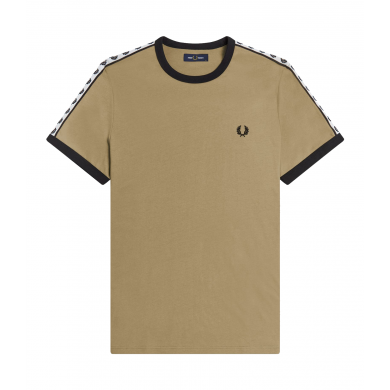 Fred Perry Authentic Taped Ringer Tee Sage